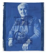 Thomas Edison Fleece Blanket