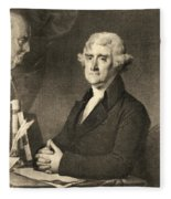 Thomas Jefferson Fleece Blanket