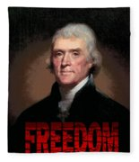 Thomas Jefferson Freedom Fleece Blanket