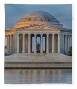Thomas Jefferson Memorial At Sunrise Fleece Blanket