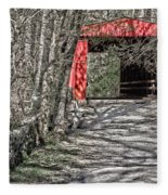 Thomas Mill Covered Bridge Fleece Blanket
