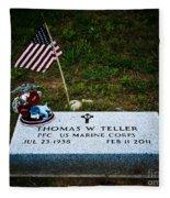 Thomas W. Teller Fleece Blanket
