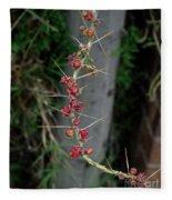 Thorns And Blooms Fleece Blanket