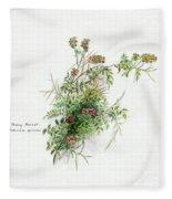 Thorny Burnet C1950 Fleece Blanket