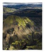 Thorsmork Valley In Iceland Fleece Blanket