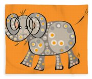 Thoughts And Colors Series Elephant Fleece Blanket