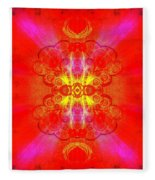 Thoughts Of Love And Light Transforming Fleece Blanket