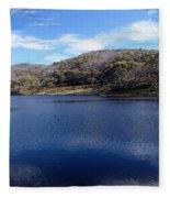 Threadbo Lake Panorama - Australia Fleece Blanket