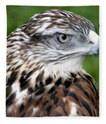 The Threat Of A Predator Hawk Fleece Blanket