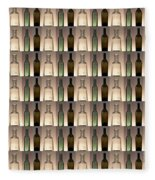 Three Bottles Collage Fleece Blanket