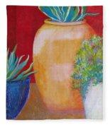 Three Bright Pots Fleece Blanket