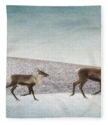 Three Caribous Fleece Blanket