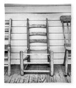 Three Chair Porch Fleece Blanket