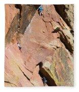 Three Climbers Fleece Blanket