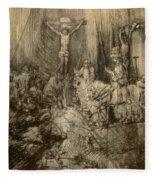 Three Crucifixes Fleece Blanket