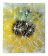 Three Dandelions In A Line Fleece Blanket