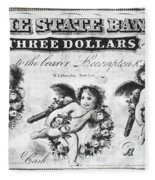 Three Dollar Bill, 1856 Fleece Blanket