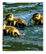 Three Ducklings Fleece Blanket