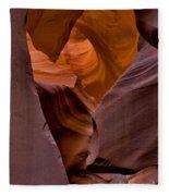 Three Faces In Sandstone Fleece Blanket