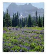105417-three Fingered Jack And Wildflowers Fleece Blanket