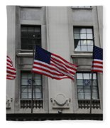 Three Flags Together On 5th Avenue Fleece Blanket