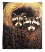 Three Is A Crowd Fleece Blanket