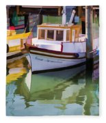 Three Little Boats Fleece Blanket