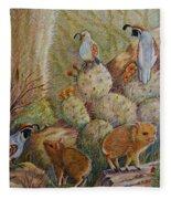 Three Little Javelinas Fleece Blanket