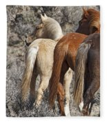 Three Long Tails Fleece Blanket