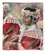 Three Mamas From Tahiti Fleece Blanket