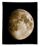 Three Moons No2 Fleece Blanket