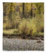 Three Moose Resting Fleece Blanket