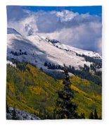 Three Needles Autumn Snow Fleece Blanket