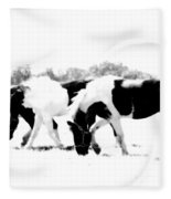 Three Of A Kind Fleece Blanket