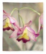 Three Orchid Beauties Fleece Blanket