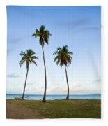 Three Palms Fleece Blanket