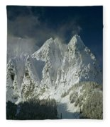 1m4503-three Peaks Of Mt. Index Fleece Blanket