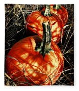 Three Pumpkins Fleece Blanket