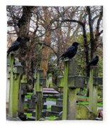 Three Ravens Fleece Blanket