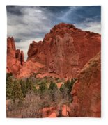 Three Red Towers Fleece Blanket