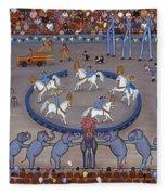 Three Ring Circus Fleece Blanket