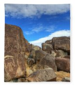 Three Rivers Petroglyphs 2 Fleece Blanket
