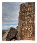 Three Rivers Petroglyphs 4 Fleece Blanket