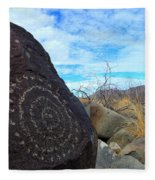 Three Rivers Petroglyphs 5 Fleece Blanket