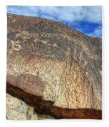 Three Rivers Petroglyphs 6 Fleece Blanket