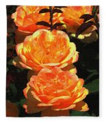 Four Rose At Mcc Fleece Blanket