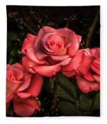 Three Roses Fleece Blanket