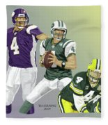 Three Stages Of Bret Favre Fleece Blanket