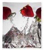 Three Strawberries Freshsplash Fleece Blanket