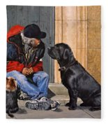 Three Strays Fleece Blanket